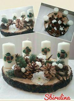 Avvento natale candele legno fatto a mano handmade by sbirulina