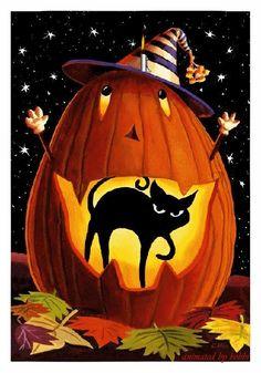 Photo - Google Photos Halloween Trick Or Treat, Halloween Boo, Halloween Pumpkins, Halloween Illustration, 5d Diamond Painting, Jack O, Easy Paintings, Garden Flags, Beautiful Artwork
