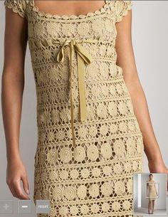 vestito+all'uncinetto,+molto+elegante