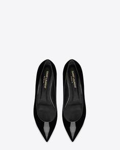 saintlaurent, Classic Paris 10 Ballerina Flat in Black Patent Leather