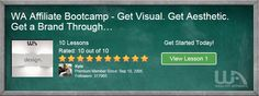 Affiliate Bootcamp - Get Visual. Get Aesthetic. Get a Brand Through…