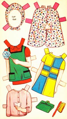 Karen Cut Out Doll Dressing Storybook (4 of 6), 1950s, Sandles