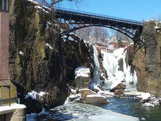 Great Falls in Paterson, NJ in frozen splendor.