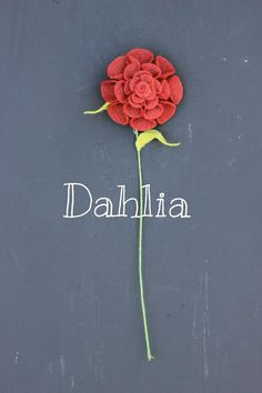 Felt Dahlia. Build Your Own Bouquet by TheFeltFlorist on Etsy, $9.00