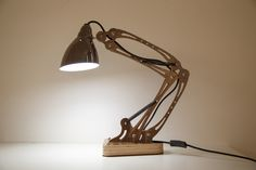 DIY Unique Flexible Arm Table Lamp -Rustic Wooden Home lighting with four colours choice-By iWood Crafts LLC.