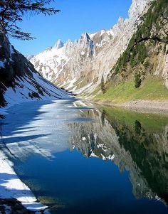 Fälensee or Fählensee, Alpstein, Switzerland