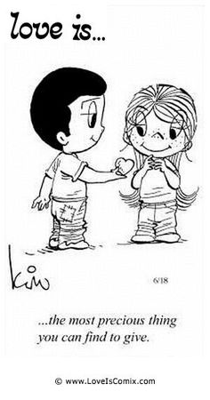 Love is. Number one website for Love Is. Funny Love is. pictures and love quotes. Love is. comic strips created by Kim Casali, conceived by and drawn by Bill Asprey. Everyday with a new Love Is. Love Is Cartoon, Love Is Comic, What Is Love, Love You, Just For You, My Love, Love My Husband, Awesome Husband, Happiness