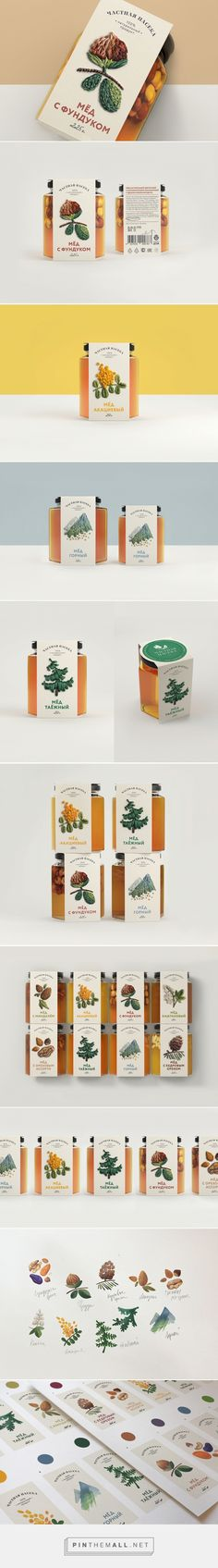 Private Apiary honey by Nastya Lukina and Maxim Petrov. Source: Behance. Pin curated by #SFieds99 #packaging #design #inspiration #honey #traditioanal #label #natural