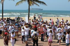 Wild & Free - Global March against canned lion hunting, 15 March 2014 - along Durban's beach promenade.