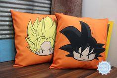Super Saiyan Goku and Goku Decorative Pillow Cover Bundle, 16 x 16, Anime Pillow, Dragon Ball z, Pillow Cover, Home Decor Gift ideas, Orange  https://www.etsy.com/listing/471628000/custom-order-pillow-cover-bundle