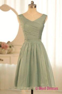 Chiffon Bridesmaid Dresses,Short Bridesmaid Gown,Summer Bridesmaid Gowns,Beach Bridesmaid Dress,Cheap Bridesmaid Gown,Fall Bridesmaid Dress For Modest Brides PD20184515