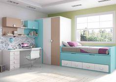 Dormitorio con compacto de 4 cajones  Armario
