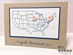 Stampin' Up!, Bev & Card, Map it Out Photopolymer, A Dozen Thoughts, Itty Bitty Shapes Punch Pack