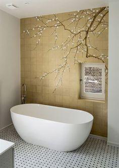 Interior Design Color Schemes, Home Interior Design, Exterior Design, Interior And Exterior, Bathroom Accent Wall, Bathroom Colors, Hallway Decorating, Interior Decorating, Wall Design