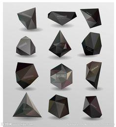 抽象3D立体几何图形