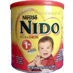Nestle NIDO Kinder 1+ 12.6 oz can dried powder whole Milk kids baby drink mix #Nestle #BigBoyTumbleweed