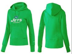 Women's New York Jets Authentic Logo Pullover Hoodie Green Cheap & Free Shipping