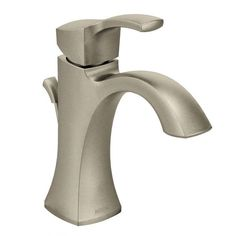 Lav Faucet for Garage Bath: Voss brushed nickel one-handle high arc bathroom faucet - 6903BN