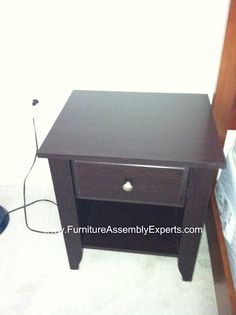 sears night stand assembled in Arlington VA by Furniture assembly experts company
