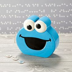 Our Cookie Monster Piggy Bank makes it easy to save up for plenty of treats (or whatever else you happen to fancy). Disney Baby Toys, Kid N Play, Sesame Street Cookies, Favorite Cartoon Character, Baby Planning, Cookies Et Biscuits, Kids Decor, Crate And Barrel, Decoration