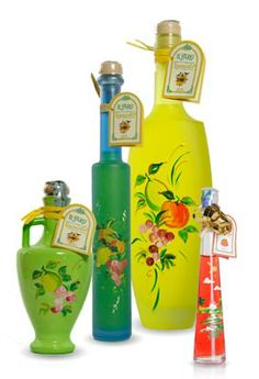So artistic, beautiful collectibles after the limoncello is gone! bottiglie artistiche