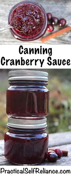 Cranberry Sauce Canning Cranberry Sauce ~ Jellied or Whole Berry ~ Cranberry Sauce Recipe for Home Canning Cranberry Chutney, Cranberry Salad, Canning Cranberry Sauce, Chili Chutney, Best Cranberry Sauce, Cranberry Recipes, Holiday Recipes, Holiday Meals, Homemade Cranberry Sauce