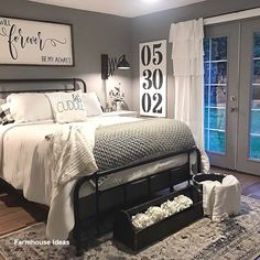 Modern Rustic Master Bedroom Decor and Design . Modern Rustic Master Bedroom Decor and Design ~ Bea Farmhouse Master Bedroom, Master Room, Master Bedroom Makeover, Master Bedroom Decorating Ideas, Master Suite, Bedroom Rustic, Bedroom Ideas Master On A Budget, Bedroom Decor Master For Couples, Industrial Bedroom
