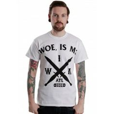 Woe, Is Me - Cross Swords White - T-Shirt Merch Store - Impericon.com UK