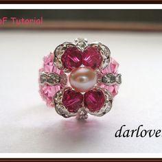 Swarovski 4 - Petals Flower Ring | JewelryLessons.com