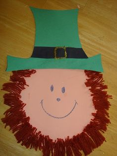 paper plate leprechaun...try this with a color spectrum beard and find the gold at the end of the rainbow!!!