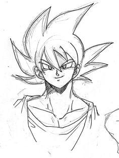 Goku Drawing, Ball Drawing, Naruto Sketch, Anime Sketch, Anime Drawings Sketches, Cool Drawings, Cartoon Sketches, Anime Character Drawing, Dragon Ball Z