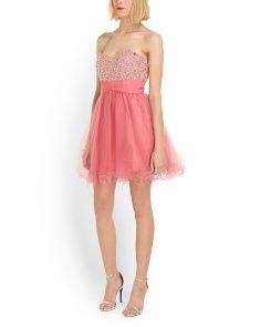 image of Strapless Short Prom Dress