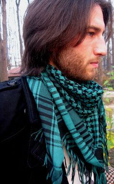 emerald green scarf for men    on etsy    #$22#
