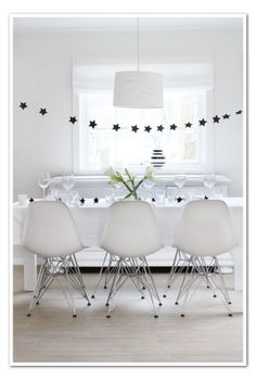 Star garland for New Year`s