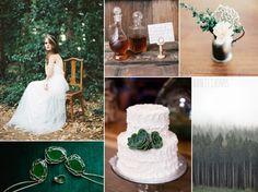 Rustic Emerald Wedding Ideas