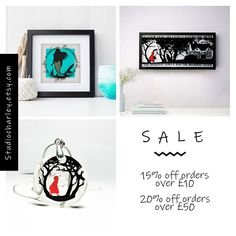 There's a sale taking place in my shop until the August. Not long after that I'll be closing for several weeks…