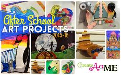 After School Art Projects 2015-16 LOTS of ideas for elementary art, after school at, or art club projects
