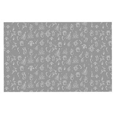 KESS InHouse Snap Studio 'Miniature Christmas Gray' White Dog Place Mat, 13' x 18' -- Click image to review more details. (This is an affiliate link and I receive a commission for the sales) #Pets