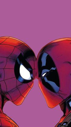 grafika deadpool, Marvel, and spiderman Cute Deadpool, Deadpool X Spiderman, Spiderman Art, Deadpool Tattoo, Deadpool Movie, Deadpool Symbol, Deadpool Character, Lady Deadpool, Deadpool Wallpaper