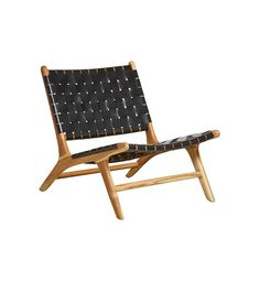 Fenton & Fenton – Leather Marlboro Chair - Teak & Black