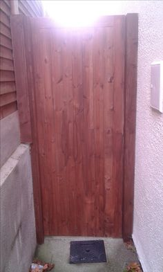 side gate Timber Gates, Side Gates, Furniture, Home Decor, Wood Gates, Decoration Home, Room Decor, Home Furnishings, Arredamento