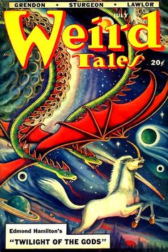 Here's some issues of the classic pulp Weird Tales with creepy covers by Matt Fox. Weird Tales , November Weird Tales , M. Pulp Fiction Book, Horror Fiction, Science Fiction Books, Fiction Novels, Pulp Magazine, Magazine Art, Magazine Covers, Book Cover Art, Comic Book Covers