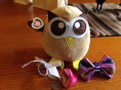 Owly knows the importance of accessories. Day 120 of #yearofowly #lifeofowly