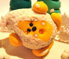 SNOWBALL PARKER Polymer Clay Character  Limited by KatersAcres, $22.50