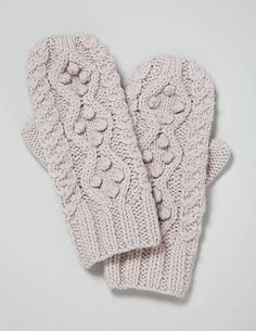 bobbled mittens! so cute!