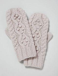 bobbled mittens! so cute!