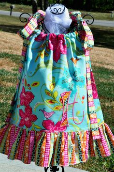 Personalized Songbird Pillow Case Dress - OOAK Party Dress on Etsy, $45.95