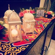 This is how we decorate the entrance table in the current Eid, Happy Eid everyone :)