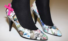 Make old shoes look better than new  If you can't find the perfect shoes on the high street, why not revamp an old pair? Perri Lewis shows you how to master the little-known art of decoupage …