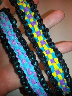Long Checkerboard Rainbow Loom Bracelet Tutorial